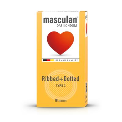 Masculan 3 óvszer ribbed+dotted 10db-os